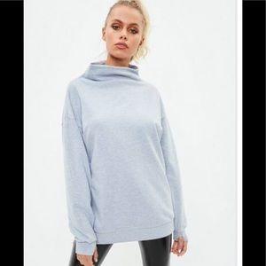 Active gray thumb hole sweatshirt